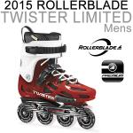ROLLERBLADE ���[���[�u���[�h �C�����C�� 2015 TWISTER LIMITED Red �j���p �A���~�t���[�� �����Y INLINE SKATE